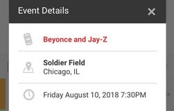 Beyonce & Jay Z On the Run II Tour Tickets in St. Charles, Illinois