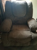 Recliner with heat and back massager and bottom massager in Fort Campbell, Kentucky