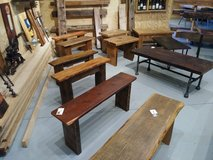 Reclaimed Vintage Barn Wood Benches in DeKalb, Illinois