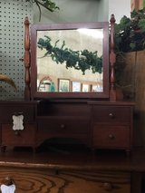 Antique Mahogany Dresser Mirror with Drawers in Warner Robins, Georgia