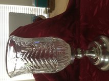 Crystal and silver candle holder in Conroe, Texas