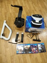 PlayStation VR with VR stand, controllers and games in Stuttgart, GE