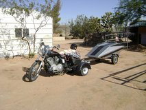 Harley Davidson motorcycle in Yucca Valley, California