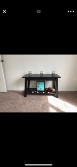 Black wooden TV stand in Camp Pendleton, California