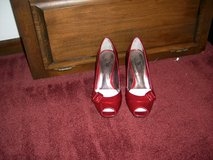 BEAUTIFUL CALVIN KLEIN RED HIGH HEELS - WOMEN'S SIZE 5-NEW IN BOX in Bellevue, Nebraska