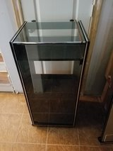 """Storage Wooded Cabinet With Glass Top/Door On Caster 15""""x18""""x41"""" in The Woodlands, Texas"""