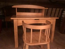 little kids wooden desk and chair in Lockport, Illinois