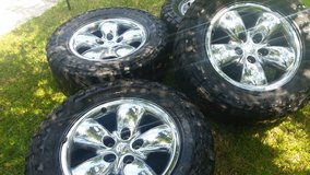 20 inch Dodge Chrome wheels with tires in Conroe, Texas