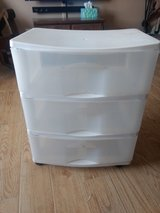 Plastic 3 drawer rolling container in Alamogordo, New Mexico