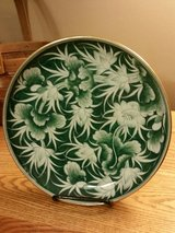 "9 1/2"" HAND PAINTED LOTUS FLOWER PLATE in Fort Leonard Wood, Missouri"