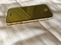 14K Gold plated IPHONE one 4S with Swarovski crystals in Naperville, Illinois