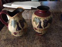 Wine pitcher and vase - decorations in Camp Lejeune, North Carolina
