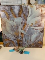 Teal & Gold Floral Wall Art #913-288 in Camp Lejeune, North Carolina