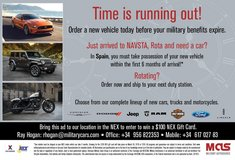 Order your Brand new Ford, Lincoln, Chrysler, Dodge, Jeep, Harley-Davidson or Polaris in Rota, Spain