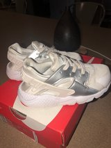 pair of white Nike Huarache shoes with box in Fort Knox, Kentucky