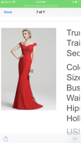 Off shoulders red dress in Fort Campbell, Kentucky
