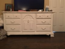 White Distressed Antique Dresser in Warner Robins, Georgia