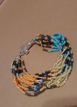 Multi color beaded magnetic closure bracelet in Baytown, Texas