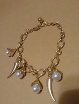 Goldtone pearl bracelet in Bellaire, Texas