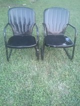 2 Metal Lawn Chairs in Fort Leonard Wood, Missouri