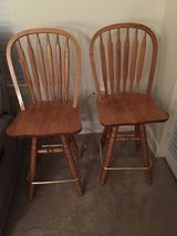 Two Wood Swivel Stools in Brookfield, Wisconsin