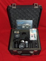 YASHICA 108 Multi Program SLR 35mm Camera / Flash & Hard Case EC in Chicago, Illinois