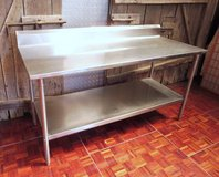 Resturant Quality Stainless Steel Table 183 cm long 106 cm tall 80 cm deep. in Miramar, California