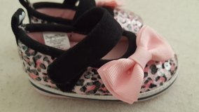 Pink/black leopard glitter crib shoe new sz 1 Stepping Stone in Camp Pendleton, California