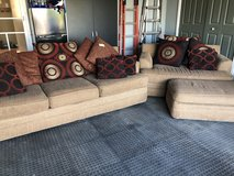 Brown couch and loveseat in Plainfield, Illinois