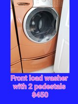 front load washer with 2 pedestals in Las Vegas, Nevada