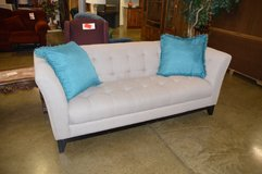 Nice Modern Sofa w/ teal pillows in Tacoma, Washington