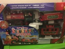 Christmas train set in Fort Bliss, Texas