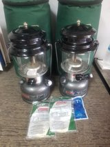 2 Coleman dual fuel lanterns and cases in Fort Campbell, Kentucky