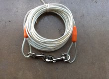 24 FOOT  LONG PLASTIC COADED DOG CABLE in Chicago, Illinois