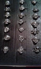 Skull Style Bikers Rings in Wilmington, North Carolina