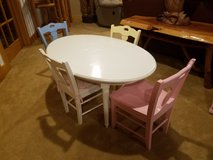 Pottery barn kids table and chairs in DeKalb, Illinois