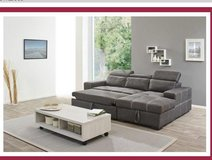 Frejuus - Sectional with Sleeper and Storage Chaise - Color Anthracite - includes delivery in Grafenwoehr, GE