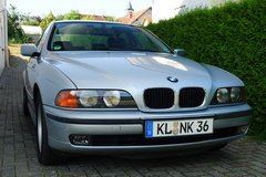 BMW 523i Sedan, low milage, A/C, Leather, 2nd owner, no rust, almost like new ! in Ramstein, Germany
