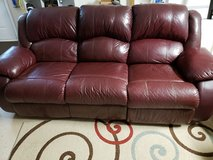 Couch - Leather double incliner sofa in Warner Robins, Georgia