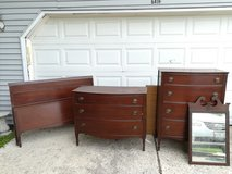 Antique bedroom set - Full size in Naperville, Illinois