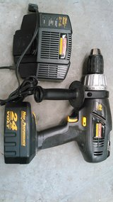 "Craftsman 24 volt Professional 1/2"" cordless drill with charger in Cherry Point, North Carolina"