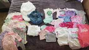 0-3 month baby girl clothing lot in Camp Pendleton, California