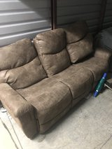 Brown full size reclining couch in Warner Robins, Georgia