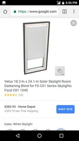 Three velux integra solar skylight shades with remotes in Yucca Valley, California