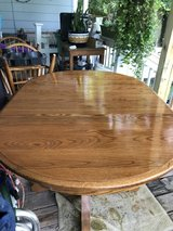 Small round  oak table and 4 chairs in Camp Lejeune, North Carolina
