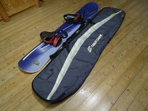 Snowboard 155 by Oxigin, Made in Austria Woodcore, with bindings+bag in Baumholder, GE