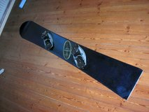 custompainted snowboard alpine-board 160cm with hardboot-bindings in Baumholder, GE
