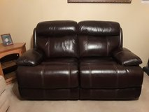 Double leather loveseat recliner in The Woodlands, Texas