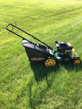 Yard Man mower with KAWASAKI engine manual self propel drive bag  mulcher side chute ready to wo... in Naperville, Illinois