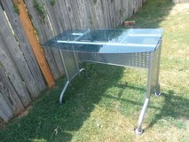 Metal frame glass top desk in Lawton, Oklahoma